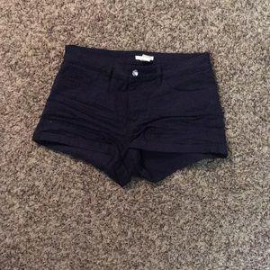 H&M High Rise Shorts - Navy